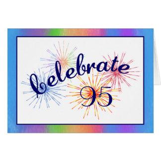 95th Birthday Fireworks Greeting Cards