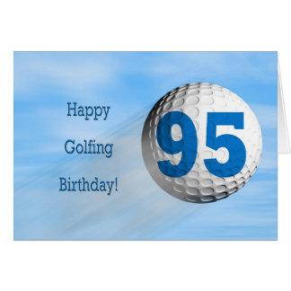 95th birthday golfing card