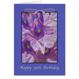 95th Birthday, Lavender Lilies Greeting Card