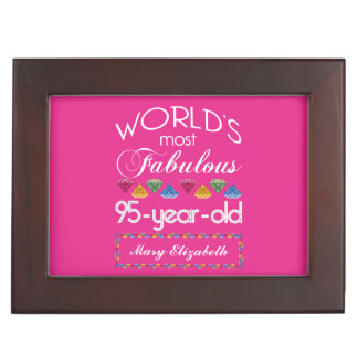 95th Birthday Most Fabulous Colorful Gems Pink Memory Box
