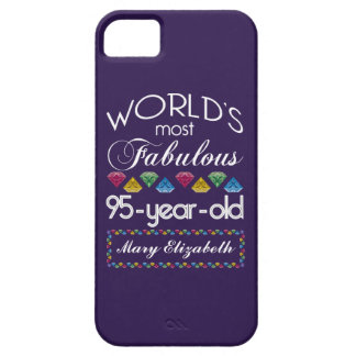 95th Birthday Most Fabulous Colorful Gems Purple iPhone 5/5S Case