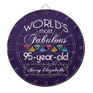 95th Birthday Most Fabulous Colorful Gems Purple Dartboard