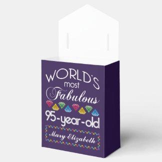 95th Birthday Most Fabulous Colorful Gems Purple Favor Box