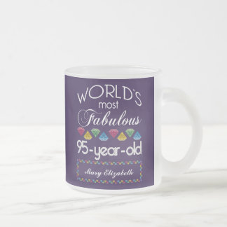 95th Birthday Most Fabulous Colorful Gems Purple Mug