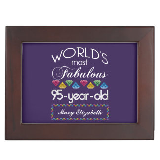 95th Birthday Most Fabulous Colorful Gems Purple Memory Boxes