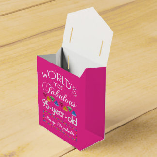 95th Birthday Most Fabulous Colourful Gems Pink Favour Box