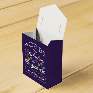 95th Birthday Most Fabulous Colourful Gems Purple Wedding Favour Box