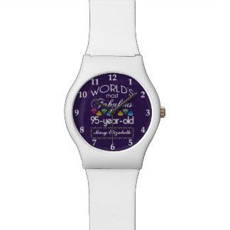 95th Birthday Most Fabulous Colourful Gems Purple Watch
