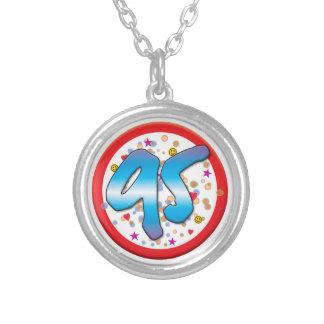 95th Birthday Round Pendant Necklace