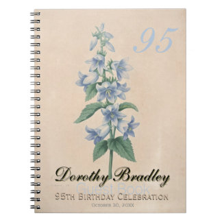 95th Birthday Party - Botanical Custom Guest Book Notebooks