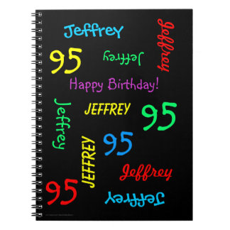 95th Birthday Party Guest Book, Repeating Names Notebook