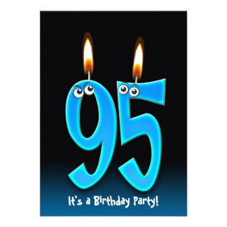 95th Birthday Party Invites