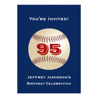 95th Birthday Party Invitation Baseball Invitation