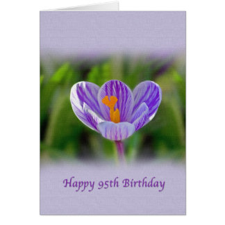 95th Birthday, Religious, Crocus Flower Greeting Card