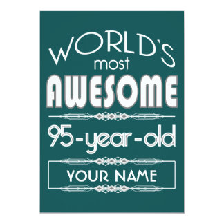 95th Birthday Worlds Best Fabulous Dark Green Fore Card