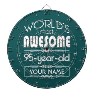 95th Birthday Worlds Best Fabulous Dark Green Fore Dart Boards