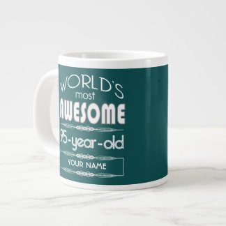 95th Birthday Worlds Best Fabulous Dark Green Fore Extra Large Mug