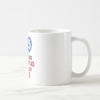 95th year birthday designs basic white mug