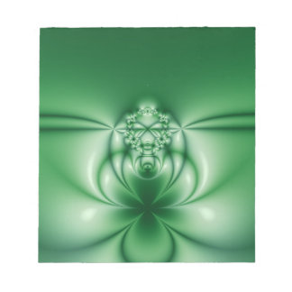 97 Abstract Green Floral Notepad