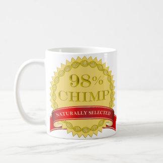 98% Chimp - Naturally Selected Basic White Mug