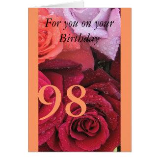 98th Birthday Card