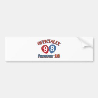 98th birthday designs bumper sticker