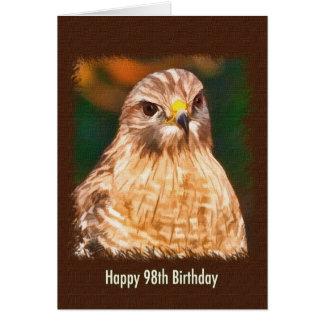 98th Birthday, Red-shouldered Hawk Card