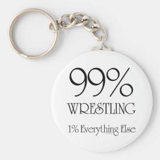 99% Wrestling Basic Round Button Key Ring