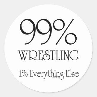 99% Wrestling Classic Round Sticker
