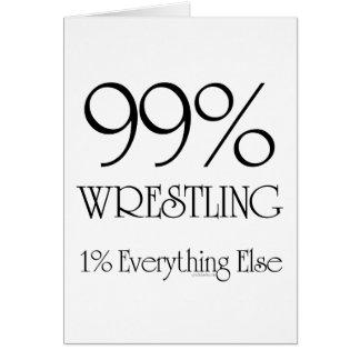 99% Wrestling Greeting Card
