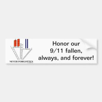 9/11 Honor Fallen Bumper Sticker