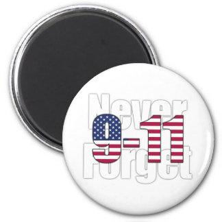 9-11 Never Forget 6 Cm Round Magnet
