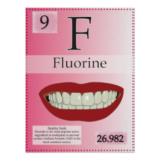 9. Fluorine (F) Periodic Table of the Elements Poster