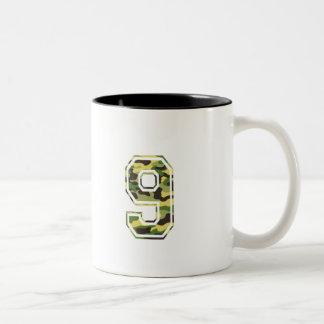 #9 Green & Yellow Camo Two-Tone Coffee Mug