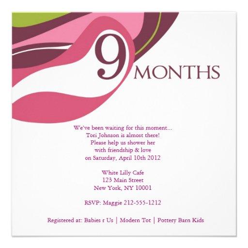 9 Months Invite