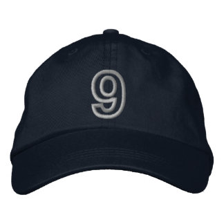 """""""9"""" Small Athletic Number Embroidered Hat"""