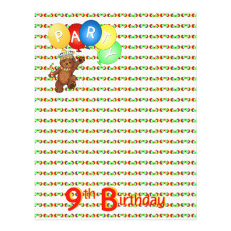 9thBirthday Party Royal Bear Scrapbook  Paper 3