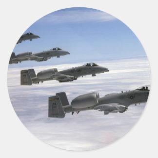 A10 Thunderbolt II Classic Round Sticker
