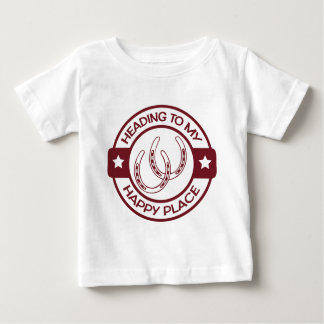 A258 happy place horseshoes burgundy baby T-Shirt