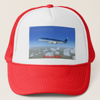 A321 Jet Airliner Aircraft Trucker Hat