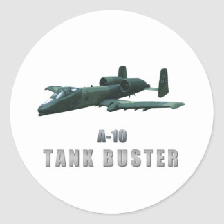 A-10 Tankbuster Classic Round Sticker