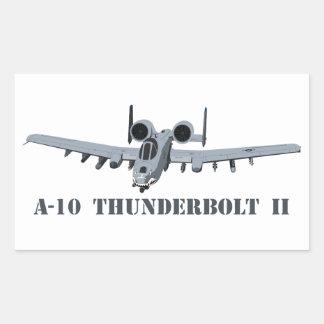 A-10 Thunderbolt II Rectangular Sticker