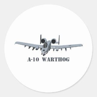 A-10 Warthog Classic Round Sticker
