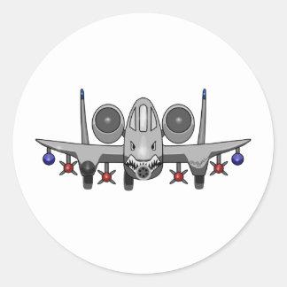 A-10 Warthog Fighter Classic Round Sticker