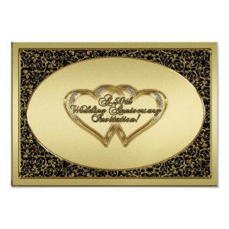 A 50th Wedding Anniversary RSVP Invitation Card
