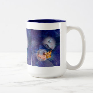 A baby and mother's joy Two-Tone mug