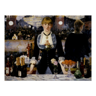 A Bar at the Folies-Bergere Posters