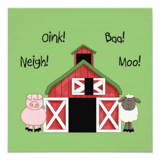 A Barnyard Birthday - Farm-themed Invitation