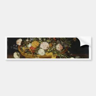 A Basket of Flowers - Jan Brueghel the Younger Bumper Sticker