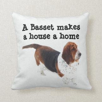 A Basset Makes a House a Home Pillow